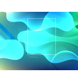 stylish wavy banner design vector image