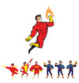 superhero theme character set vector image