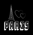 t shirt typography graphic with quote paris vector image