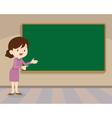 teacher standing with chalkboard vector image vector image