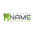 tooth logo for dental clinic new technogy vector image