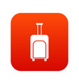 travel suitcase icon digital red vector image vector image