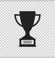trophy cup flat icon simple winner symbol black vector image vector image