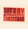 typographic grunge vintage christmas card vector image vector image