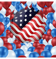 United of states with design balloons vector image vector image