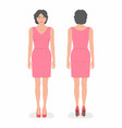 woman front and back views vector image vector image