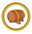 Wooden barrel of beer icon vector image vector image