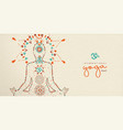 yoga day web banner of lotus pose meditation vector image vector image
