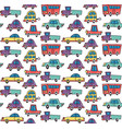 funny cars pattern vector image