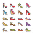 woman shoes girls fashion heeled boots vector image