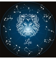 Zodiac sign leo vector image