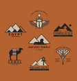 a large collection logos on travel vector image vector image