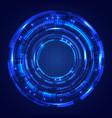 abstract blue circles hud screen system vector image