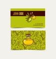 argan business cards eco style in natural colo vector image vector image