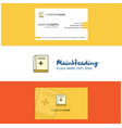 beautiful health book logo and business card vector image