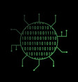 binary code bright icon binary icon isolated on vector image