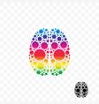 brain smart logic mind idea logo vector image