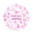 breast cancer awareness icons set vector image vector image