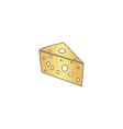 cheese computer symbol vector image vector image