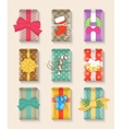 Christmas gift boxes bright colorful set vector image vector image