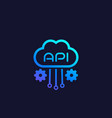 cloud api software integration icon vector image vector image