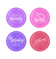 cosmetics natural beauty labels collection health vector image vector image