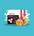 cryptocurrency design concept vector image vector image