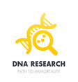dna research genetics icon over white vector image vector image