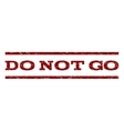Do Not Go Watermark Stamp vector image vector image