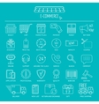 E-commerce icon set Line icons for business web vector image