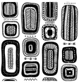 ethnic quadrangle seamless pattern vector image vector image