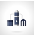 Gas refinery flat color icon vector image