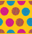 geometric pom pom repeating pattern in vector image vector image