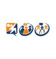 global leadership teamwork solutions set vector image