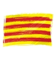 Grunge Catalonia flag vector image vector image