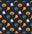 halloween holiday pattern grave in cemetery vector image vector image