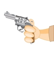 Hand with revolver vector image