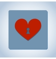 Heart with keyhole vector image