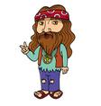 hippie vector image vector image