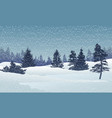 holiday winter landscape background vector image vector image