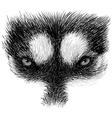 Husky eye 01 vector image