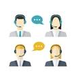 Icons set Male and female call center avatars in a vector image vector image