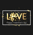 love valentine s card with bow and serpentine vector image