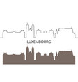luxembourg vector image vector image