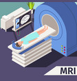 medicine concept mri scan and diagnostics patient vector image