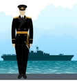 Military Uniform Navy sailor-9 vector image vector image