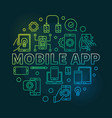 mobile app round modern outline vector image vector image
