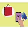 Online shopping concept using mobile devices vector image