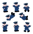 people professions policeman vector image vector image