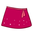 pink woman skirt on white background vector image vector image
